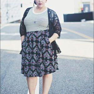 LuLaRoe Skirts - 2XL Madison skirt with pockets! Heather Blue NWT